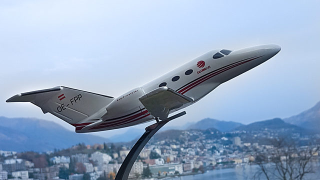 Aircraft model in Lugano