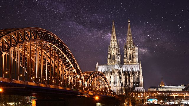 Cologne private jet night view