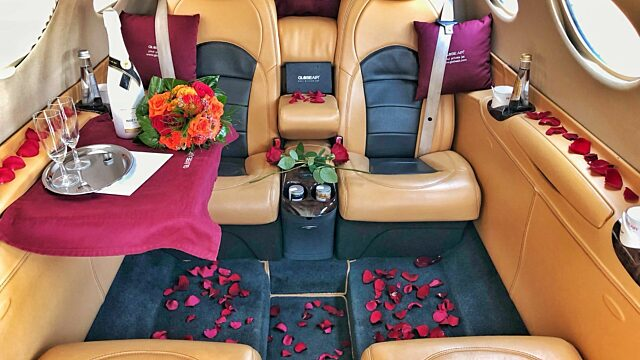 Private jet st valentine day globeair