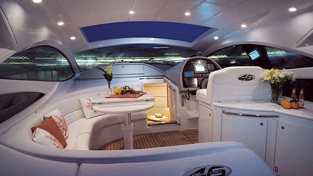 Short stay yacht interior