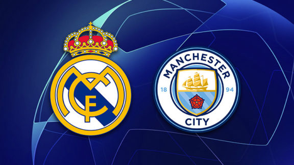 Real Madrid vs Manchester City in the last 16 of the Champions League