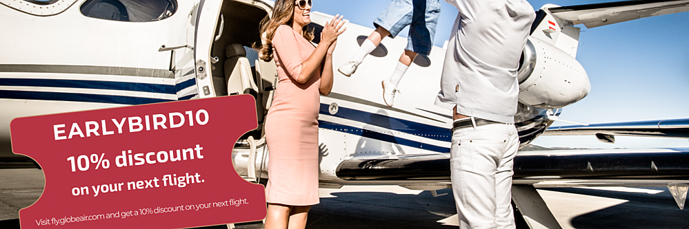 Early bird 10 private jet discount offer
