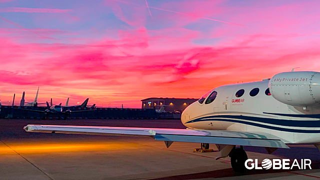 Private jet destinations month by month 2020