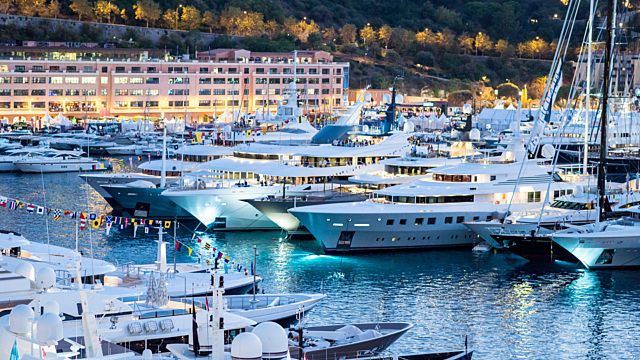 Private jet monaco yacht show